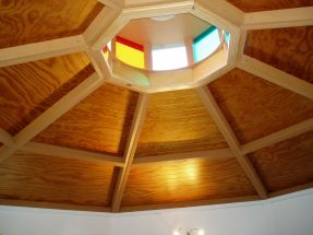 cupola with colored glass