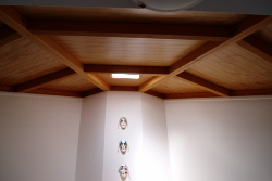 interior view of pine ceiling
