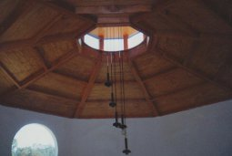 cupola with chandelier